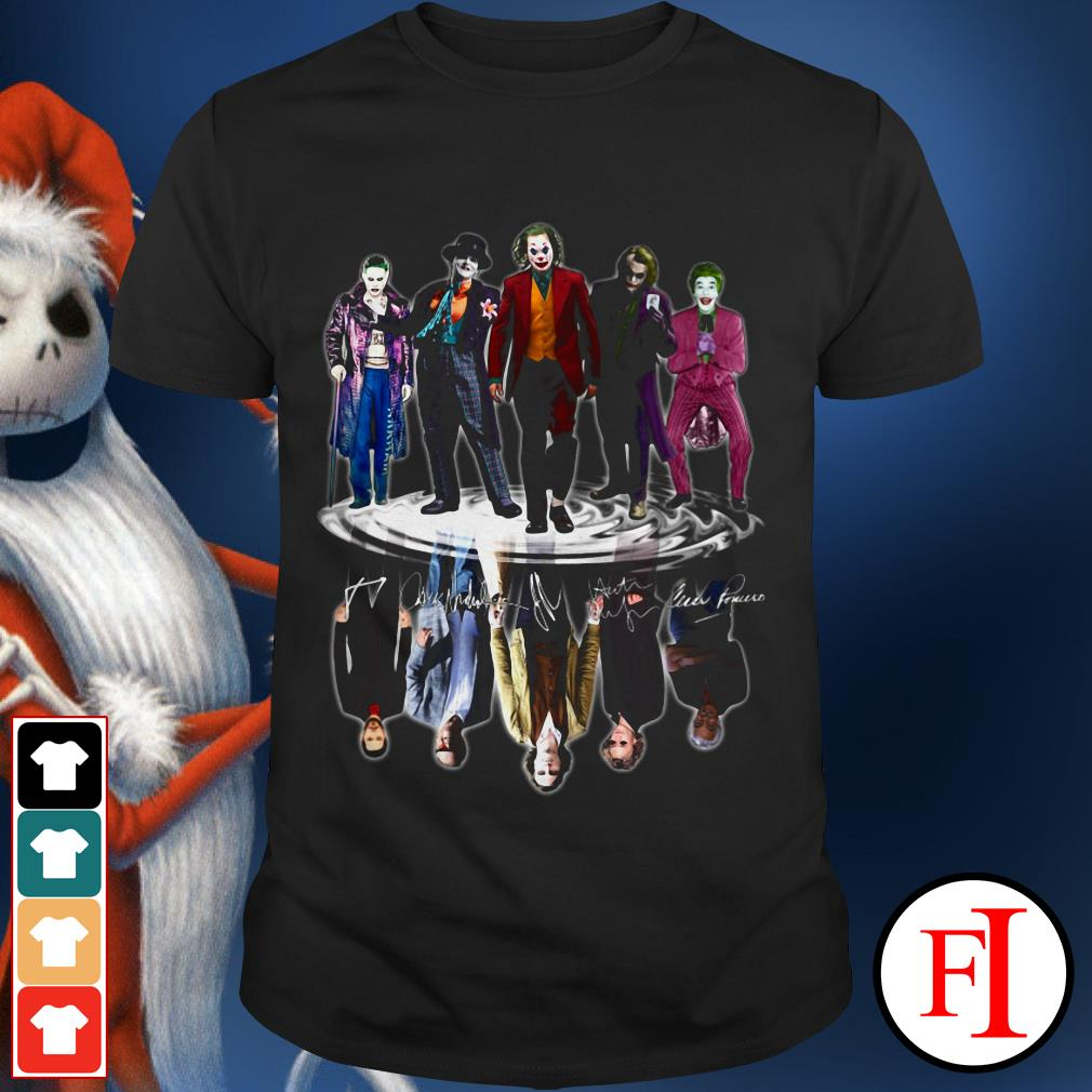 Official Joaquin Phoenix Joker 5 signatures water reflection mirror shirt