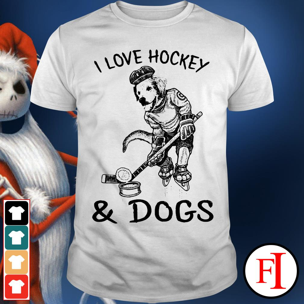 Official I love Hockey and Dog shirt