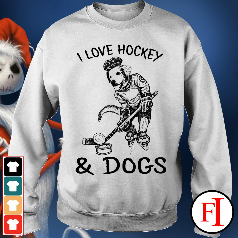 Official I love Hockey and Dog Sweater