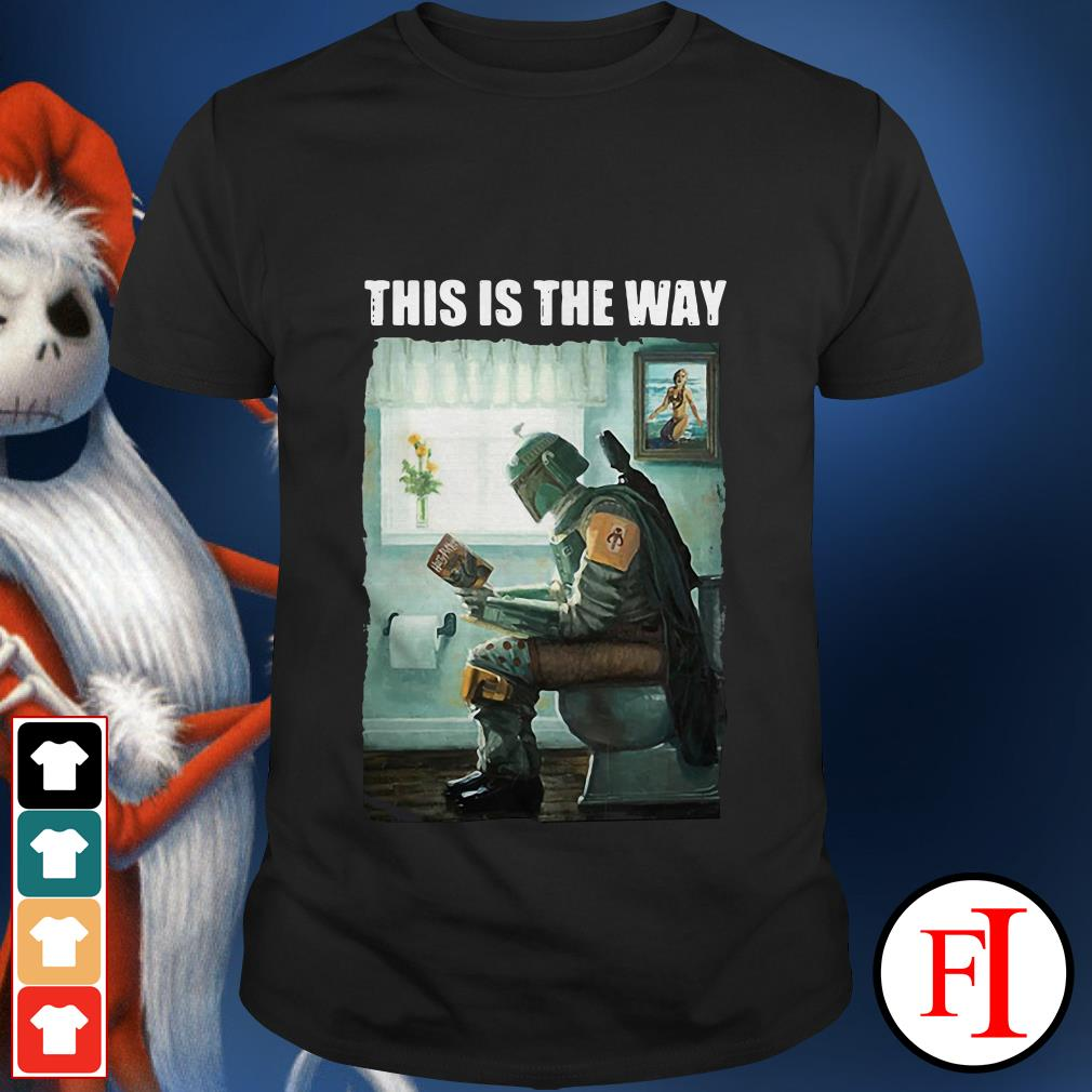 Official The Mandalorian this is the way reading Harry Potter shirt
