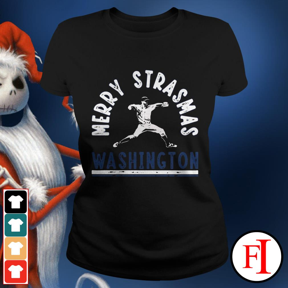 Official Merry Strasmas Washington Ladies tee