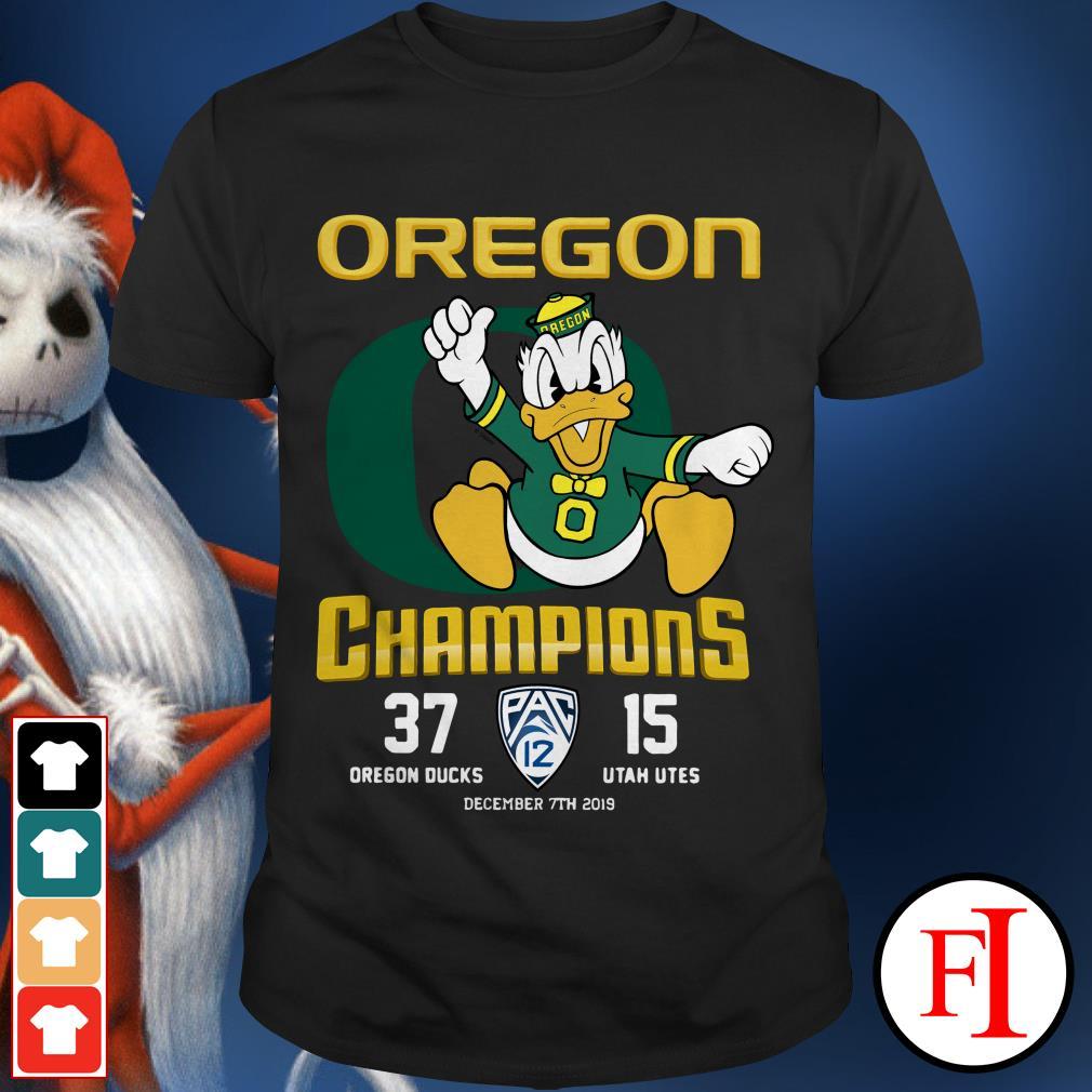 Official Oregon champions 37 Dregon Ducks 15 Utah Utes shirt