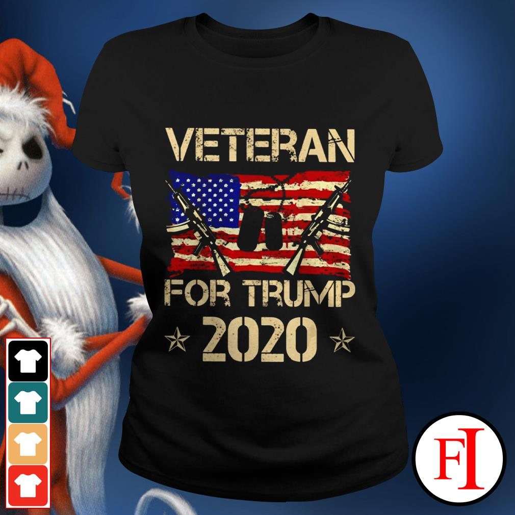 Official Veterans for Trump 2020 Ladies tee