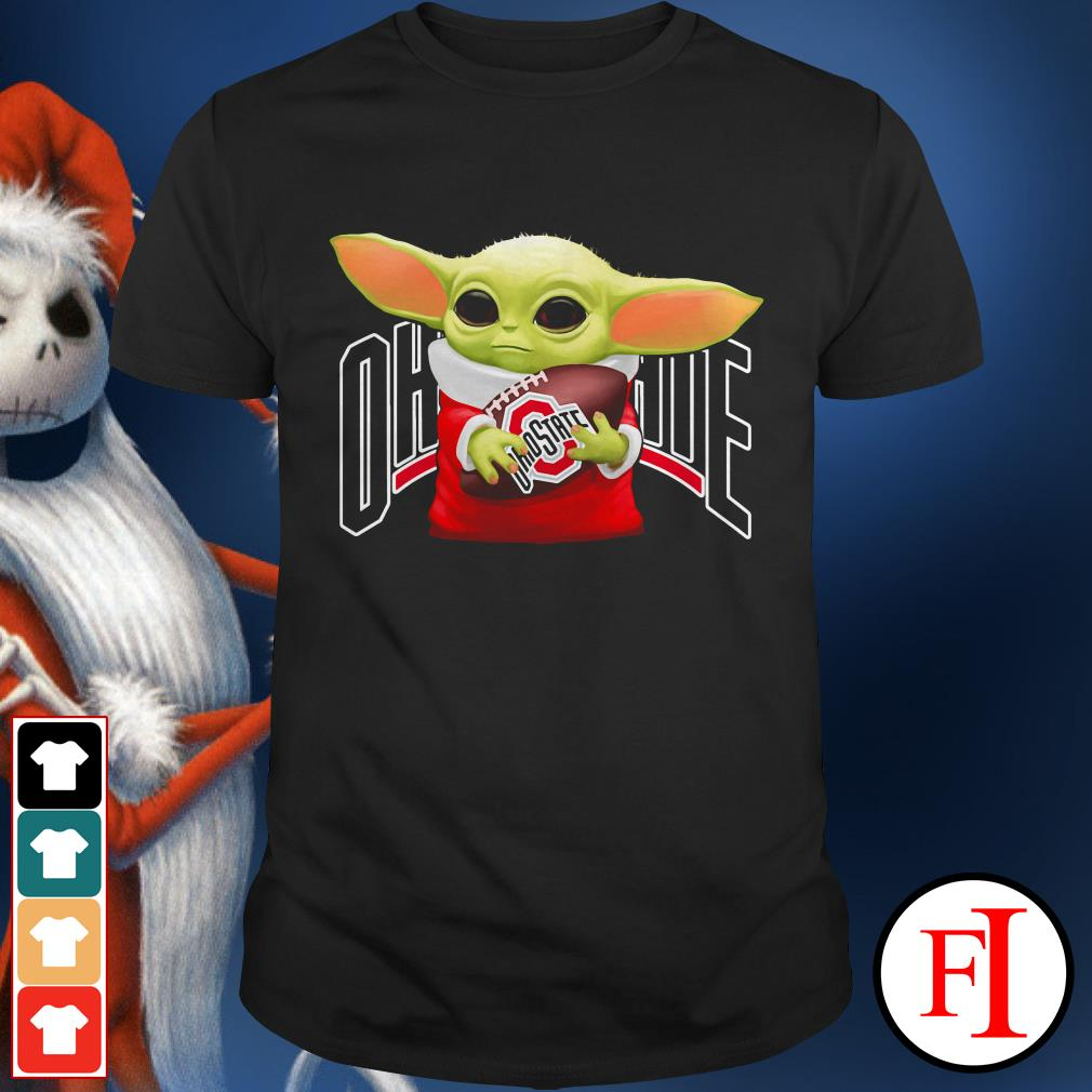 Ohio State Buckeyes Baby Yoda hug shirt