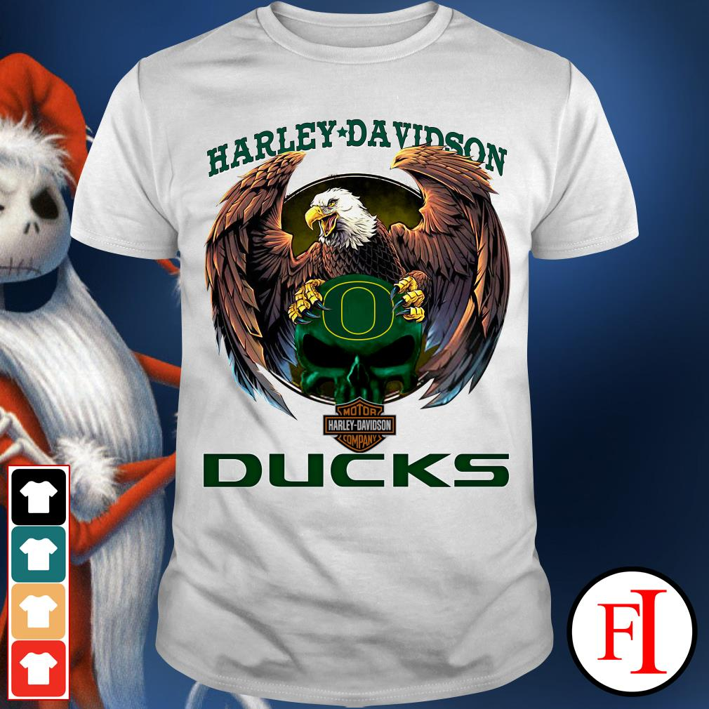 Oregon Ducks eagle Harley Davidson shirt