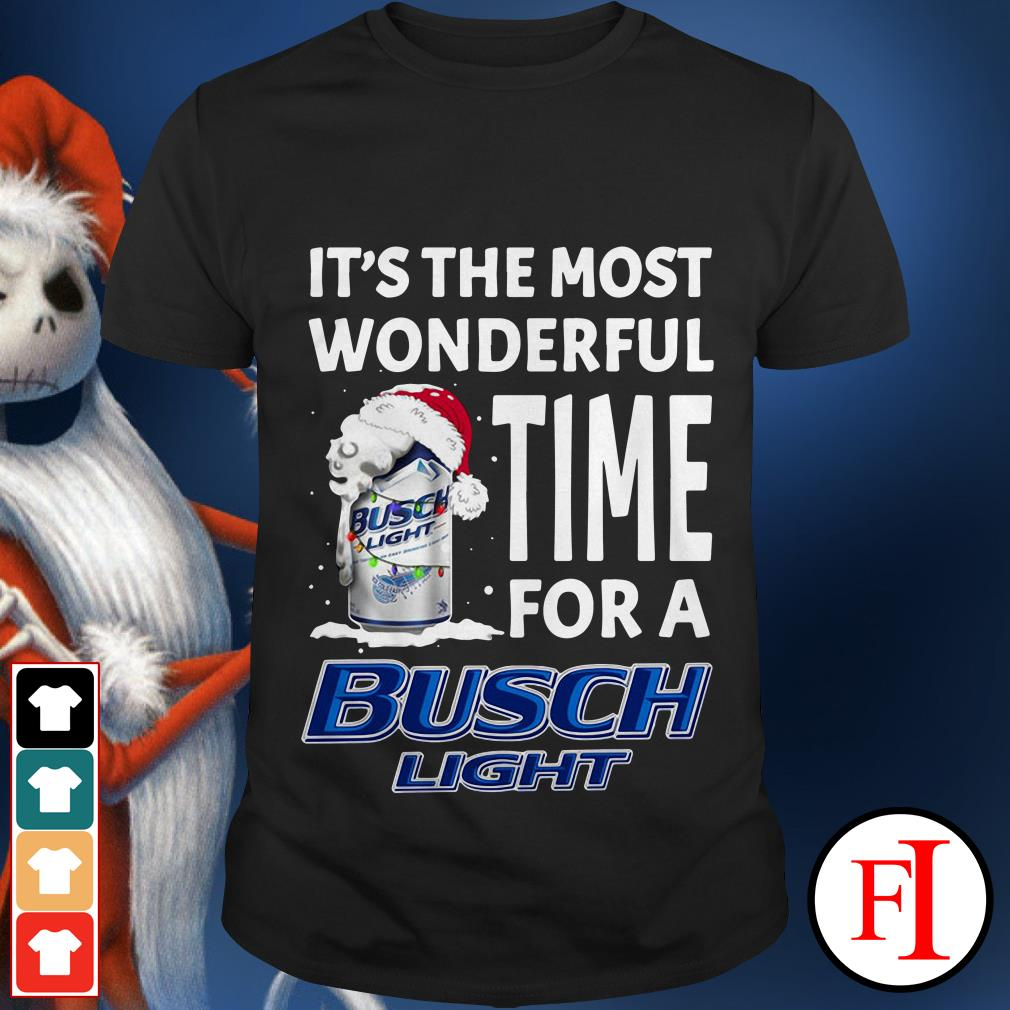 Santa Christmas It's the most wonderful time for a Busch Light shirt