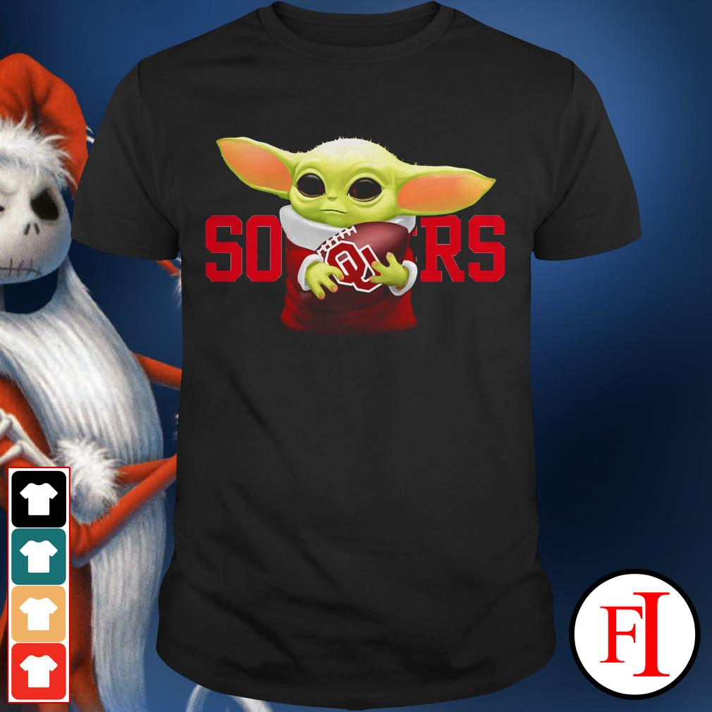 Sooners Baby Yoda hug Oklahoma shirt