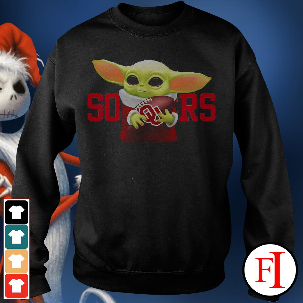 Sooners Baby Yoda hug Oklahoma Sweater
