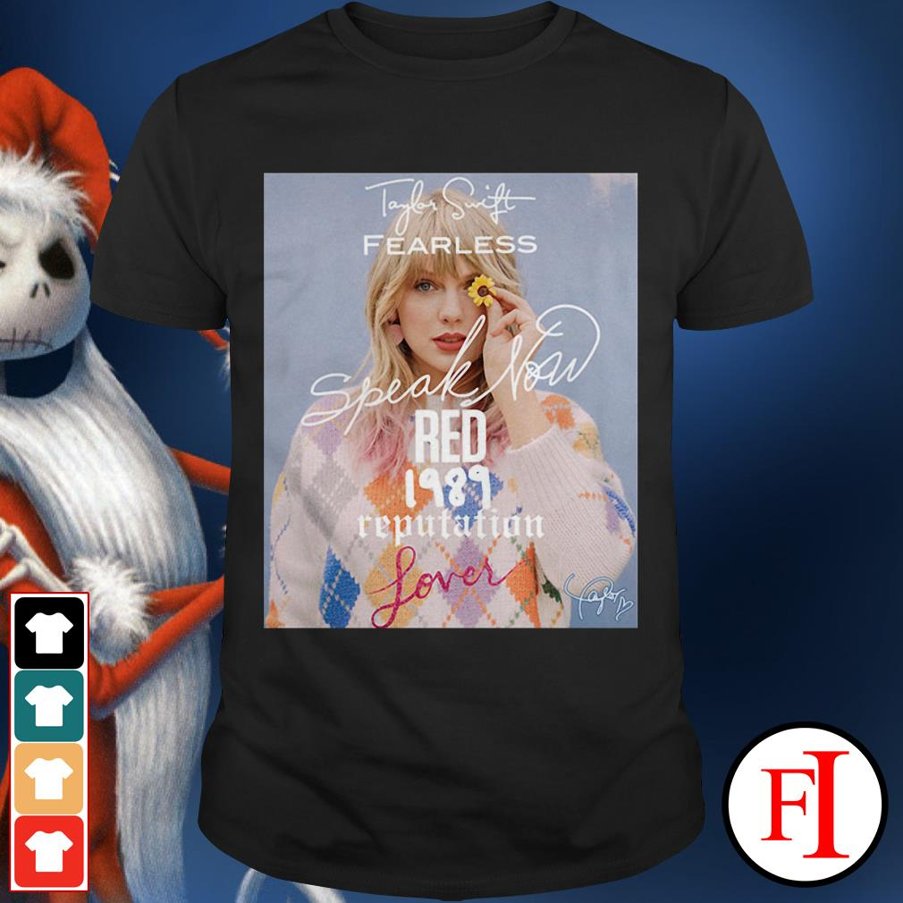 Taylor Swift fearless speak now Red 1989 reputation lover signature shirt