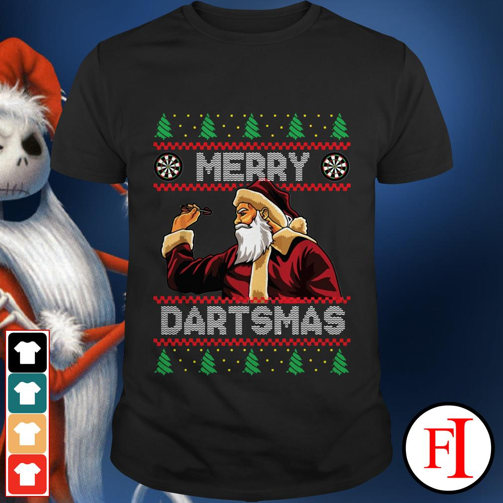 Ugly christmas Merry dartsmas santa shirt