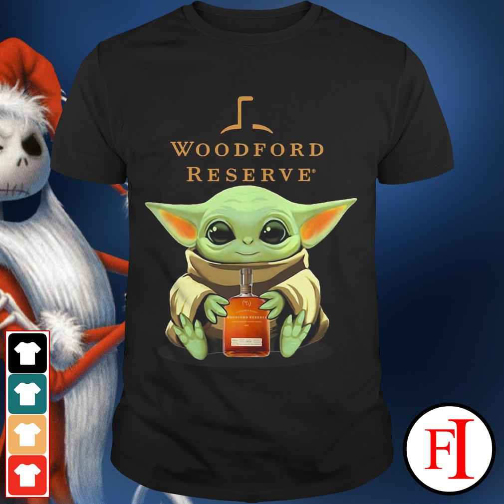 The Woodford Reserve Baby Yoda hug shirt