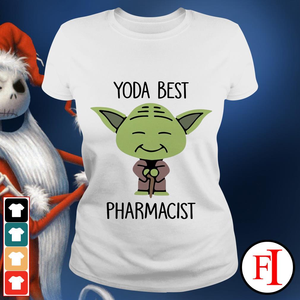 Yoda best Pharmacist Star Wars Ladies tee