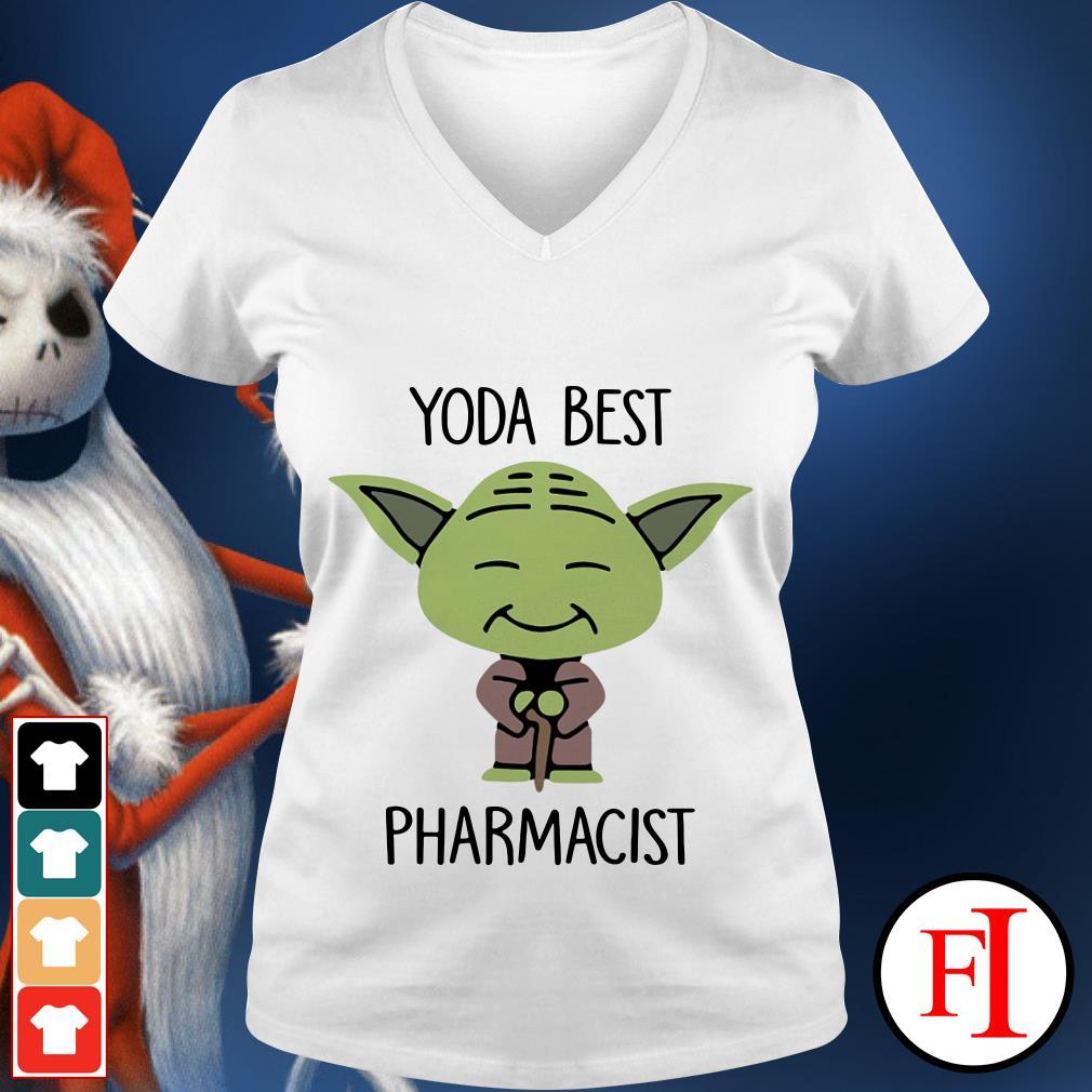 Yoda best Pharmacist Star Wars V-neck t-shirt