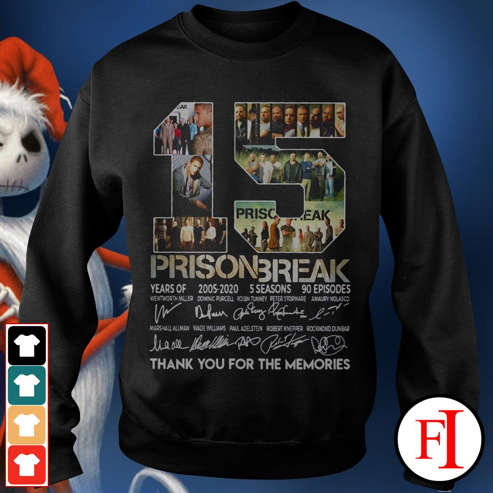15 years of Prison Break 2005-2020 thank you for memories signature IF Sweater