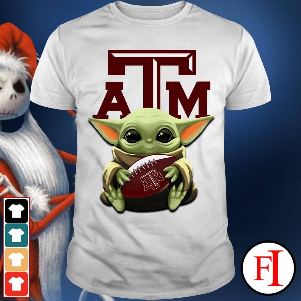 A&M Aggies Baby Yoda hug Texas shirt