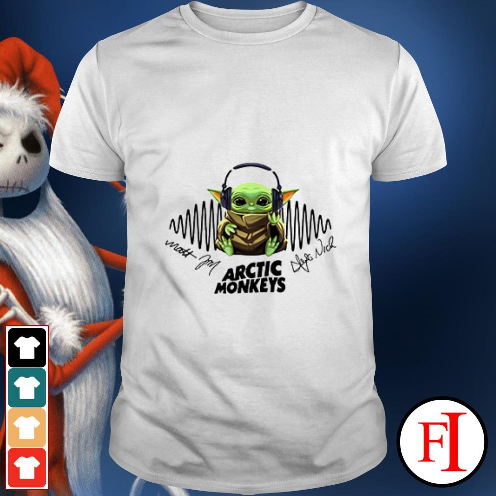 Arctic Monkeys music signatures Baby Yoda hear shirt
