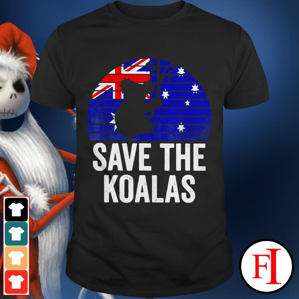 Australia save the Koalas sunset shirt