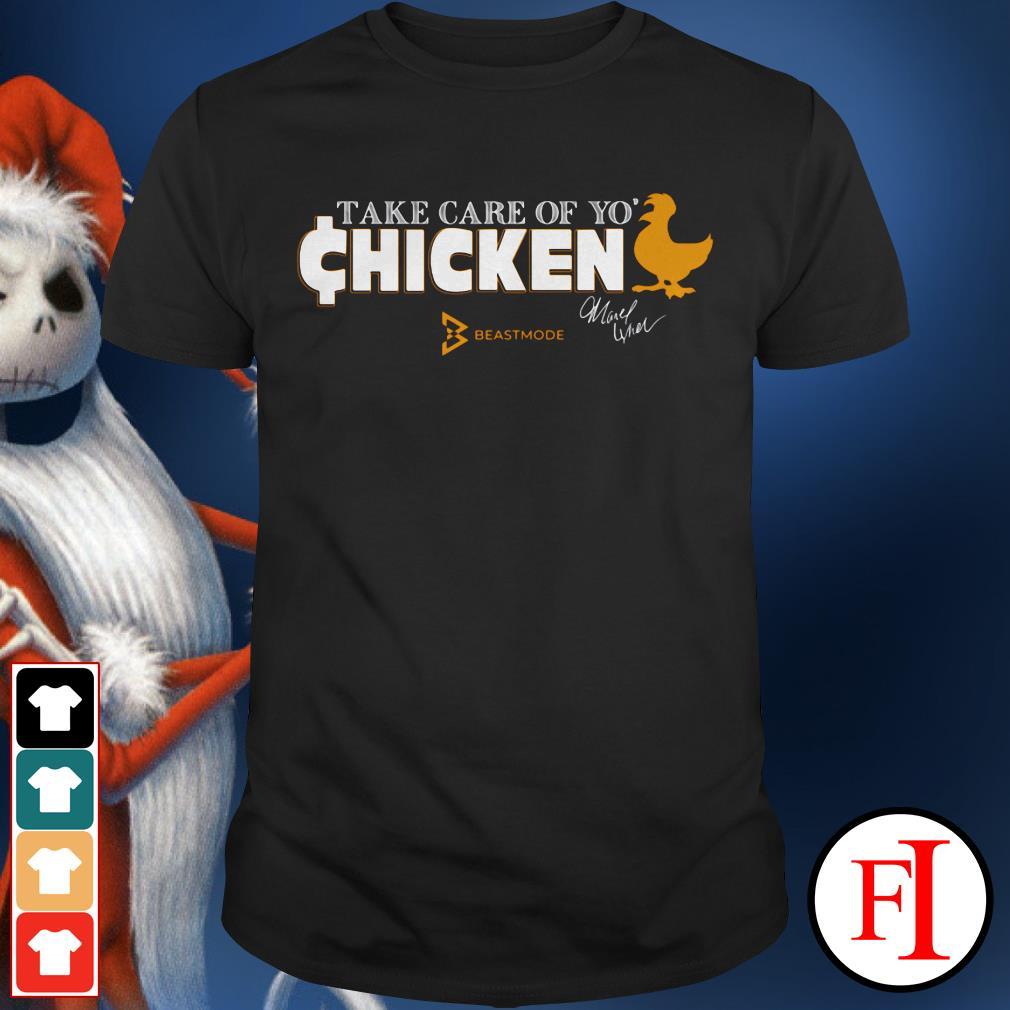 Chicken beast mode Seattle Seahawks' Marshawn Lynch selling take care of yo' shirt
