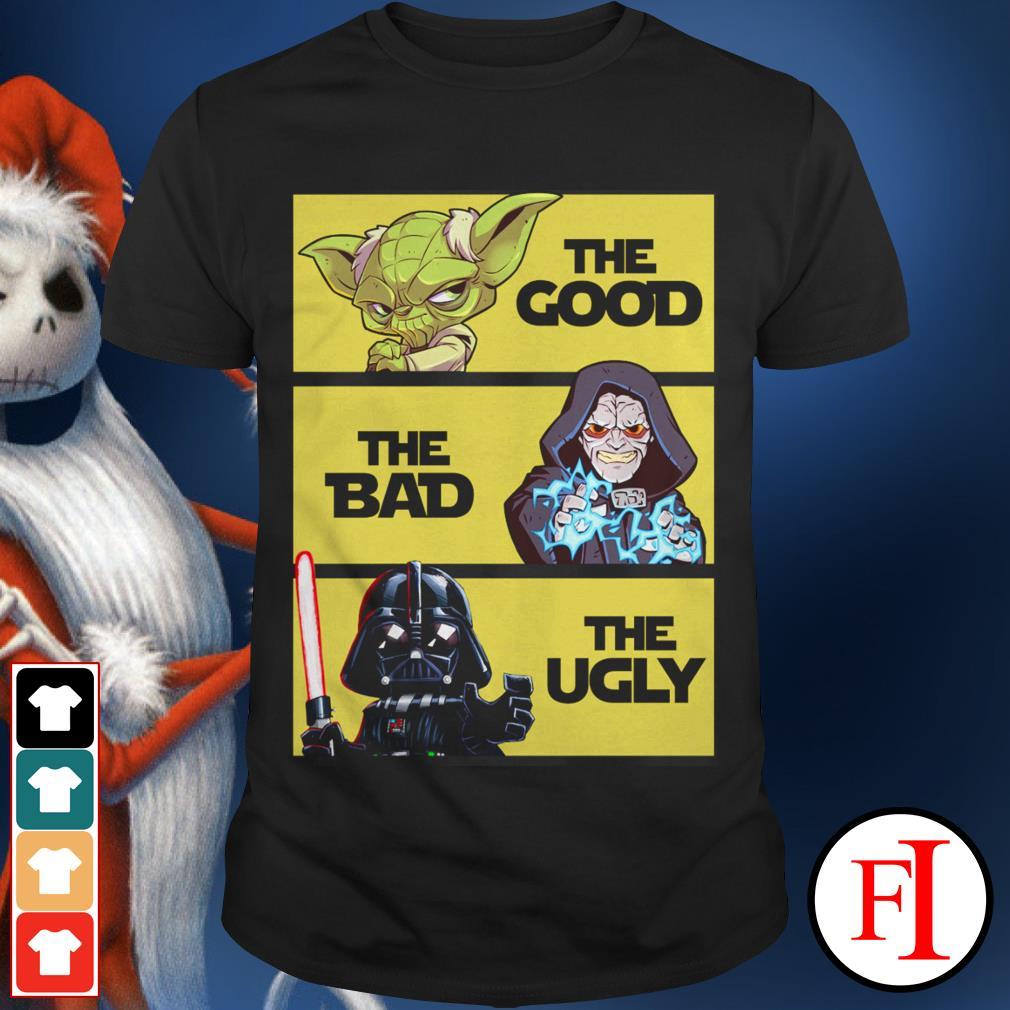 Darth Vader the ugly Yoda the good Palpatine the bad shirt