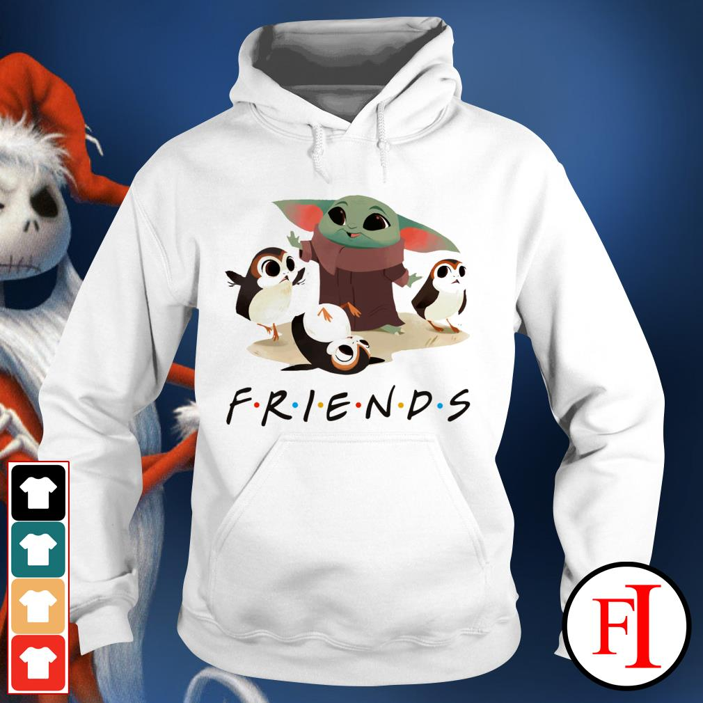 Friends TV show Baby Yoda and Sad Porg Hoodie