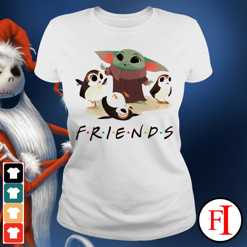 Friends TV show Baby Yoda and Sad Porg Ladies tee