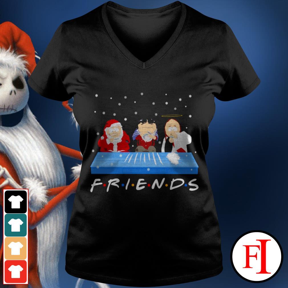 Friends TV show Tegridy Farms doing Cocaine V-neck t-shirt