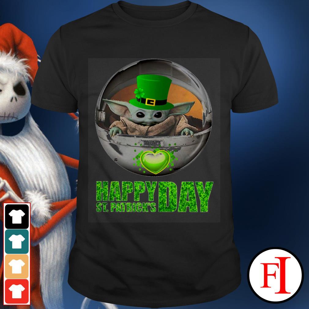 Happy St Patrick's day Baby Yoda shirt