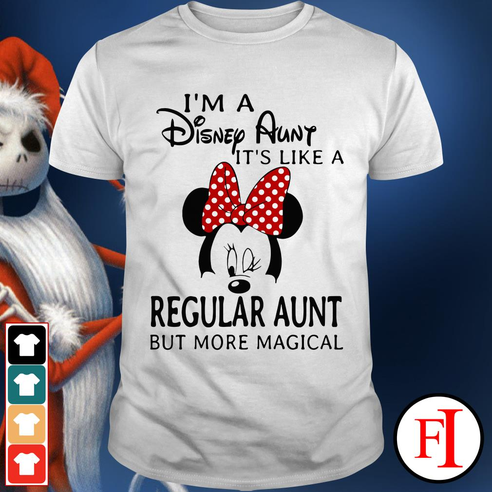 I'm a Disney aunt it's like a regular aunt but more magical Mickey mouse shirt