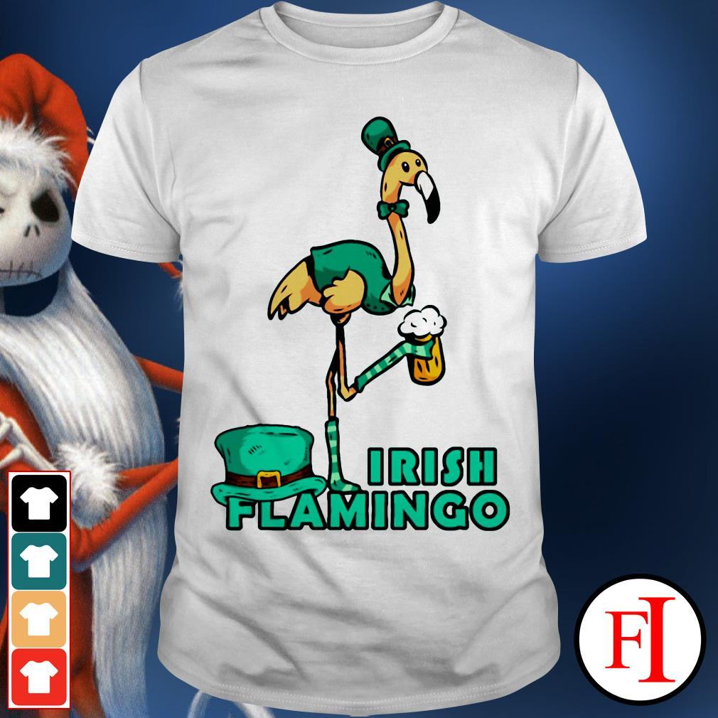 Irish flamingo beer St. Patrick's Day shirt