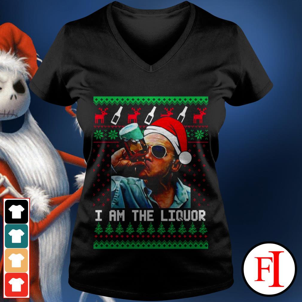 I am the Liquor Christmas Jim Lahey V-neck t-shirt