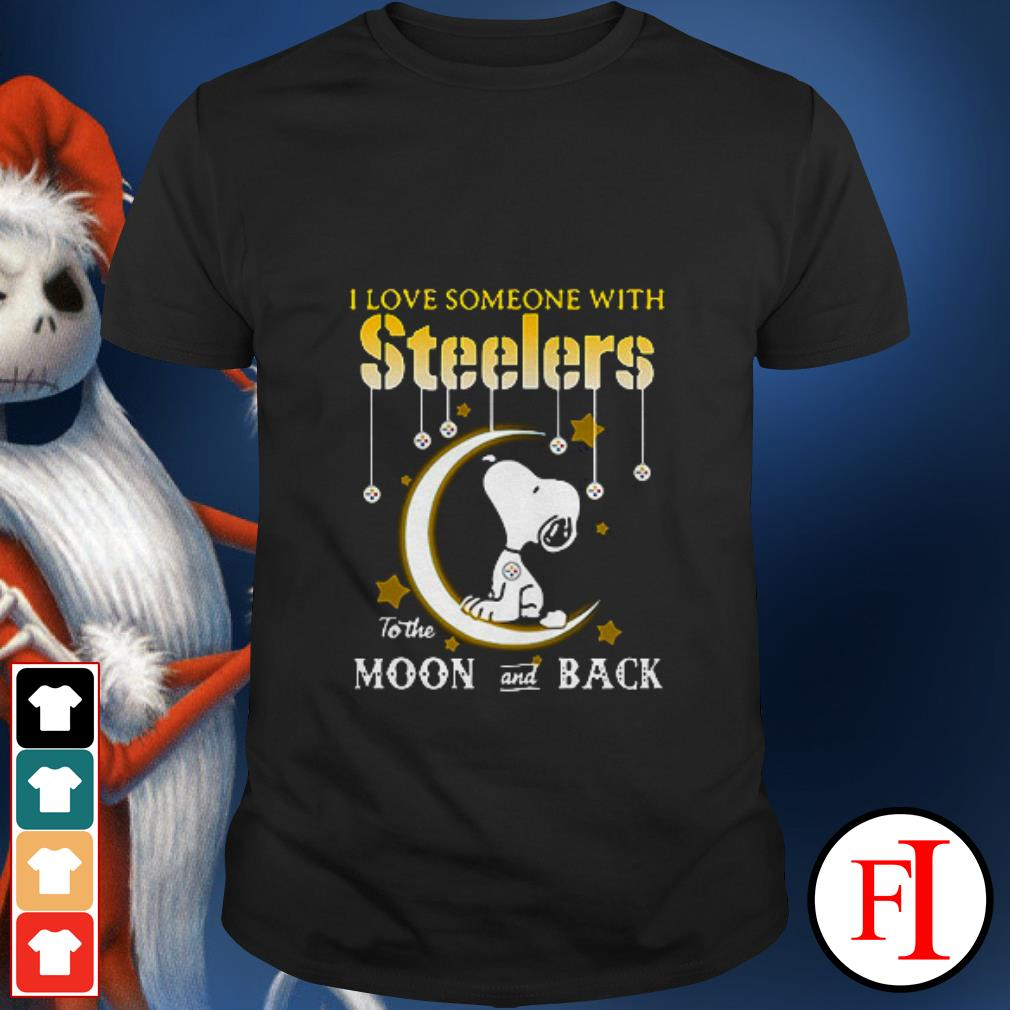 I love someone with Pittsburgh Steelers to the moon and back Snoopy shirt