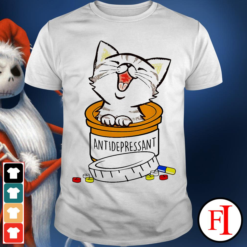 Official the Cat funny antidepressant shirt