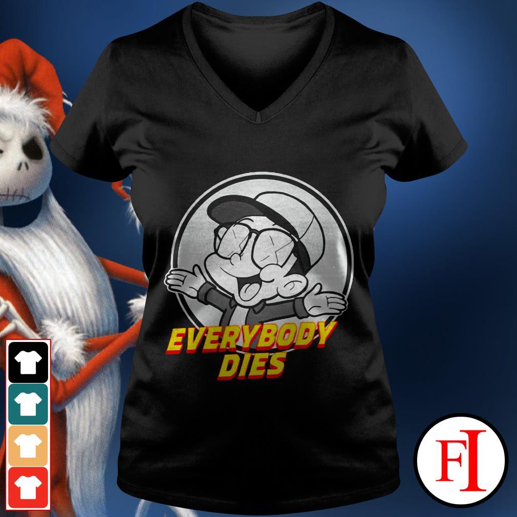 Official Everybody dies Bobby Boy records V-neck t-shirt