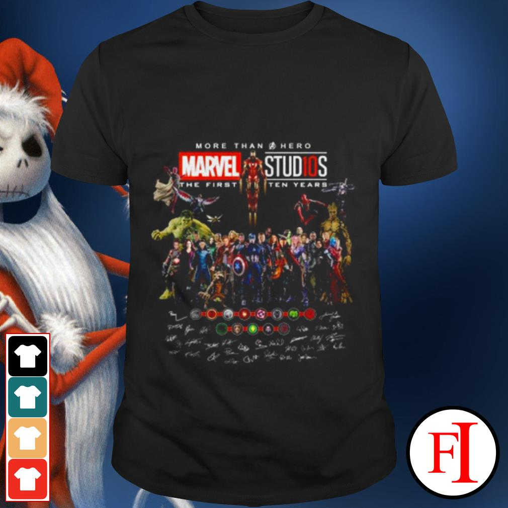 Official the Marvel Studios more than a Hero the first ten years shirt