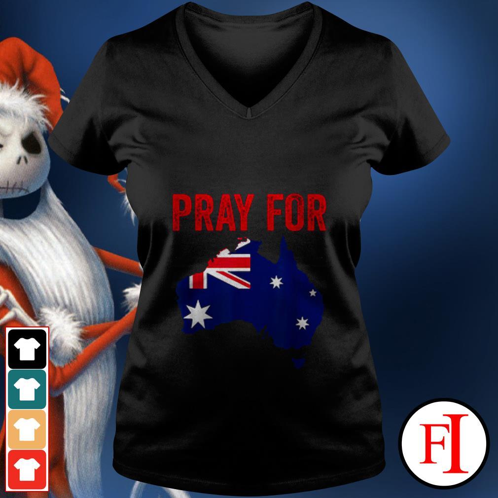Official Pray for Australia V-neck t-shirt