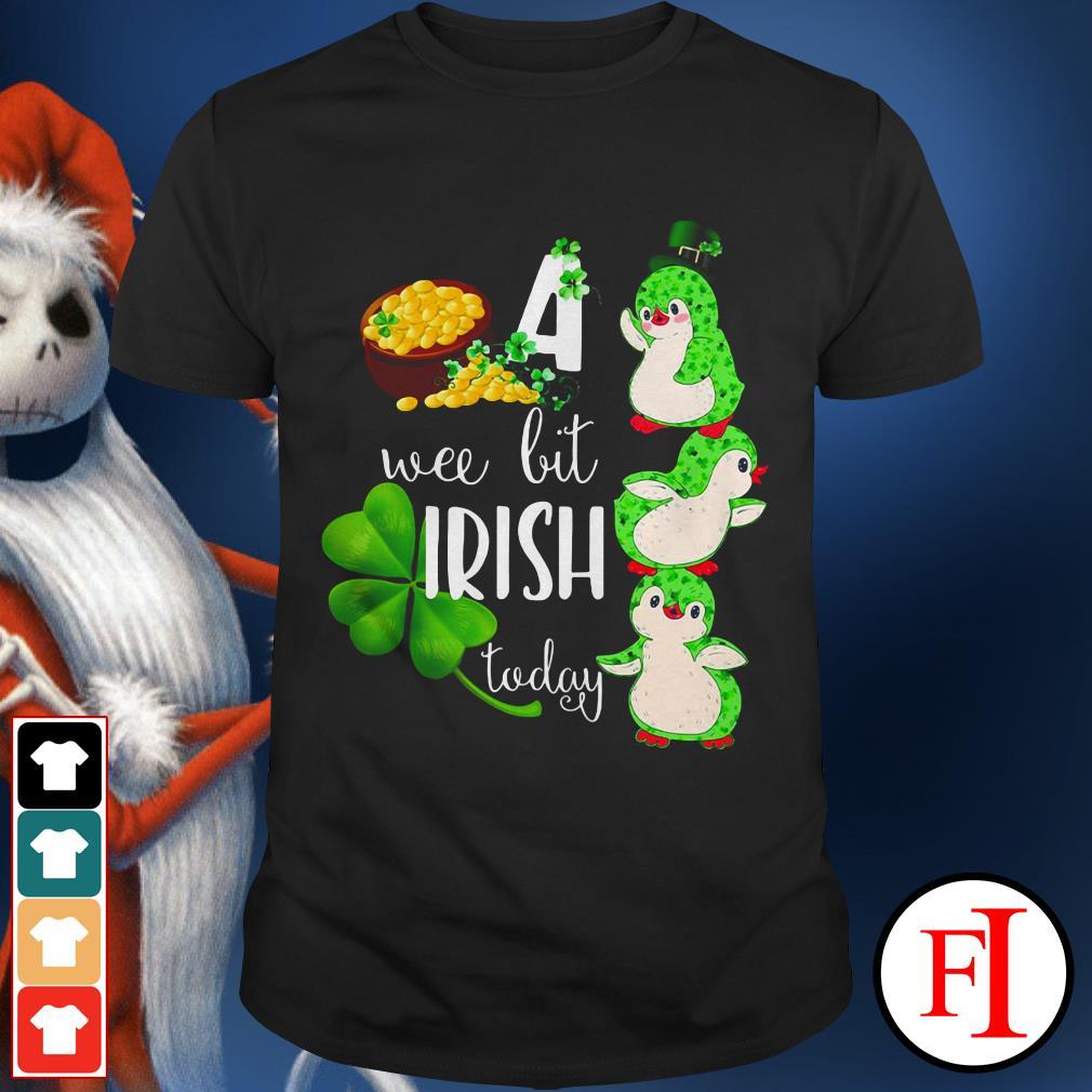 Penguin love a wee bit Irish today shirt