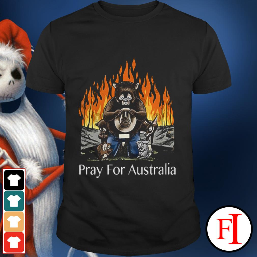 Pray for Australia Bushfires Bears Animal People shirt