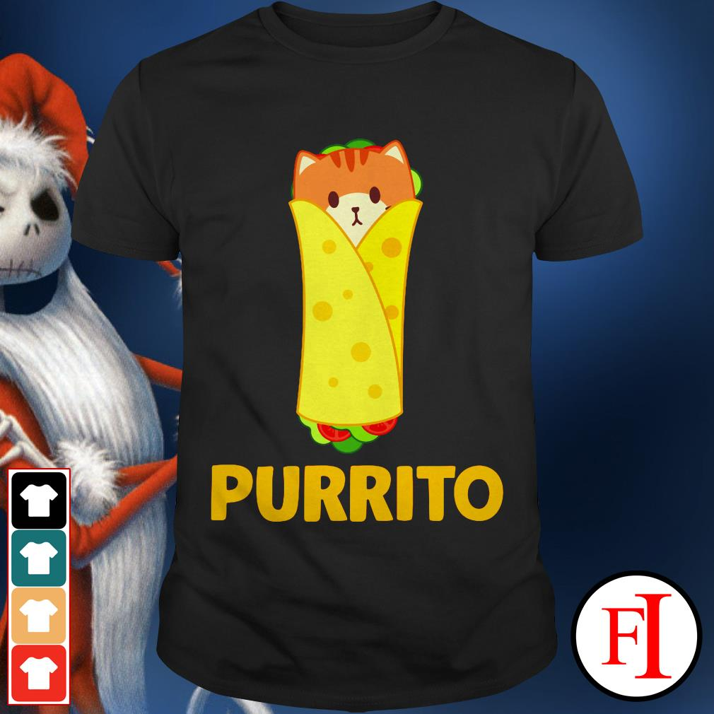 Purrito Funny cat pun cute burrito IF shirt