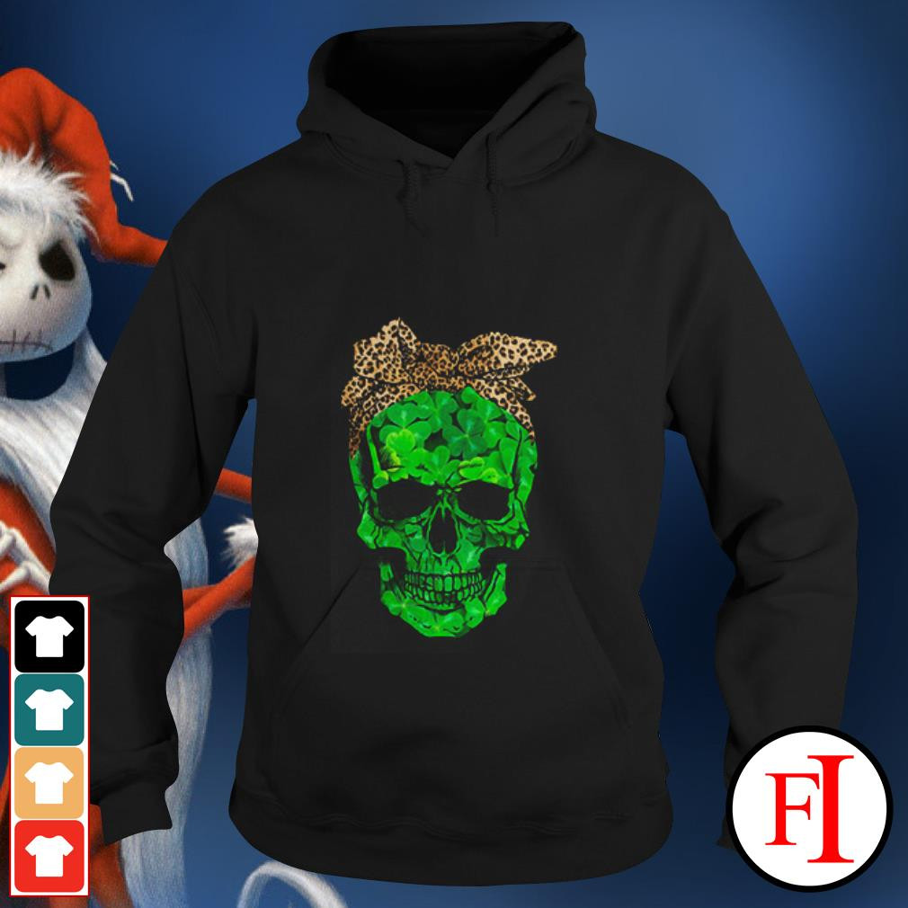 Skull Leopard St Patrick Day Hoodie