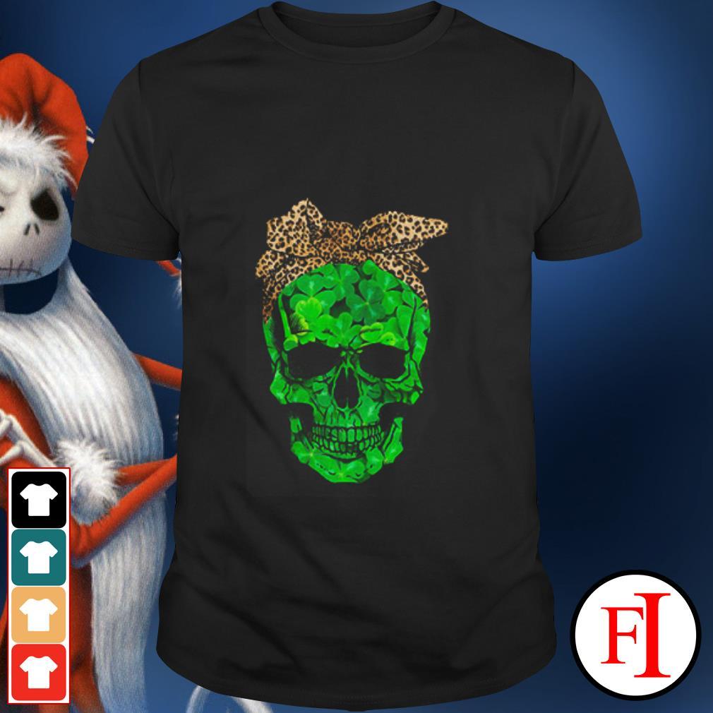 Skull Leopard St Patrick Day shirt