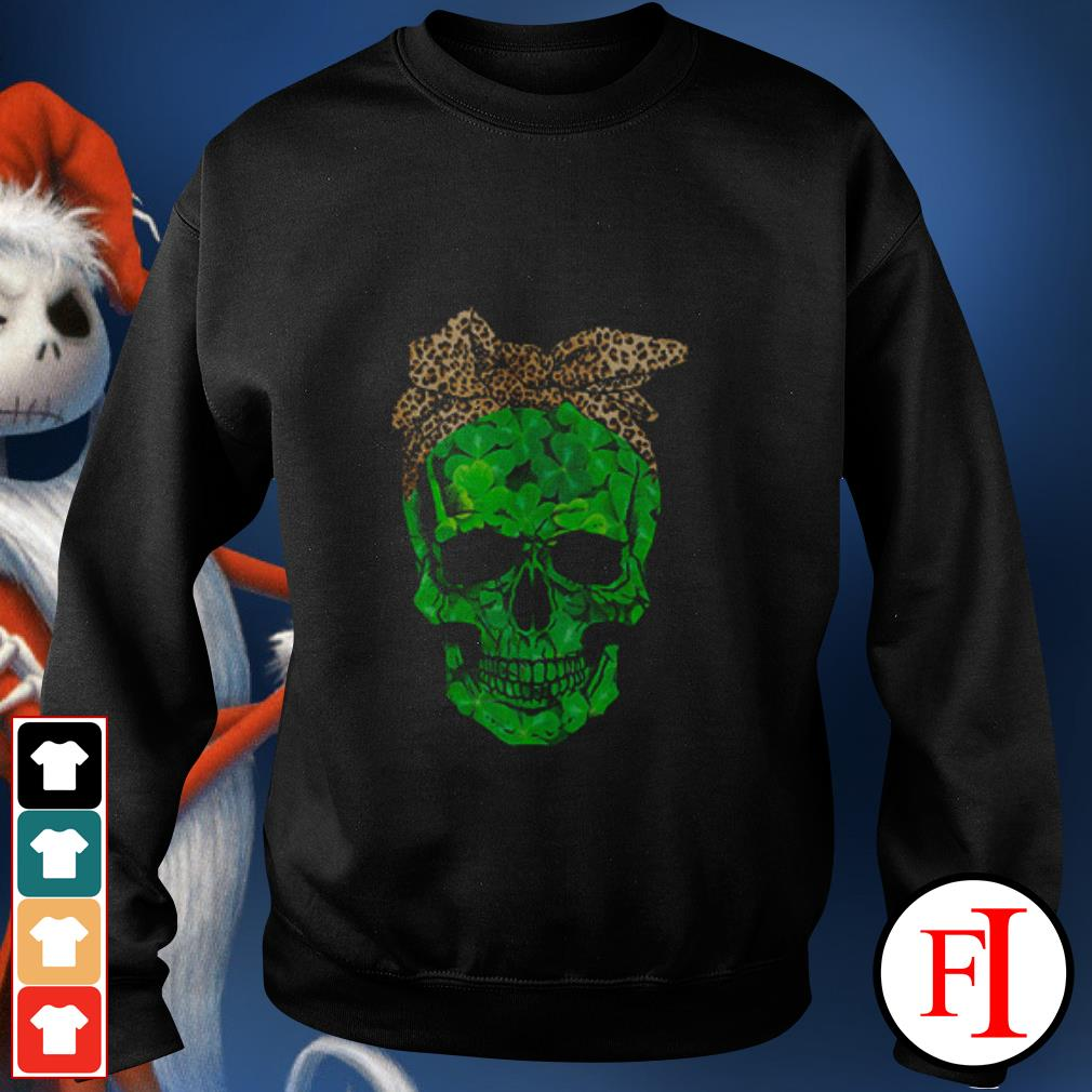Skull Leopard St Patrick Day Sweater