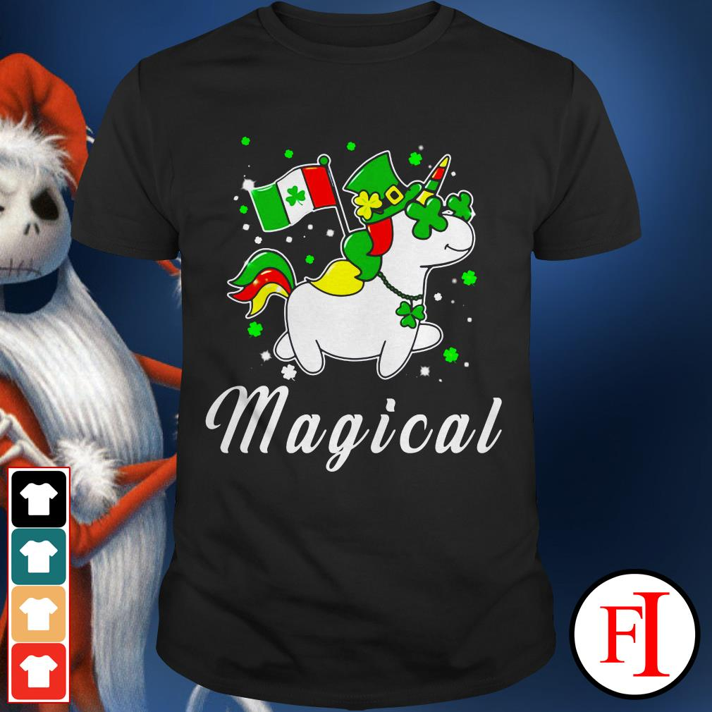 Unicorn magical St. Patrick's Day shirt