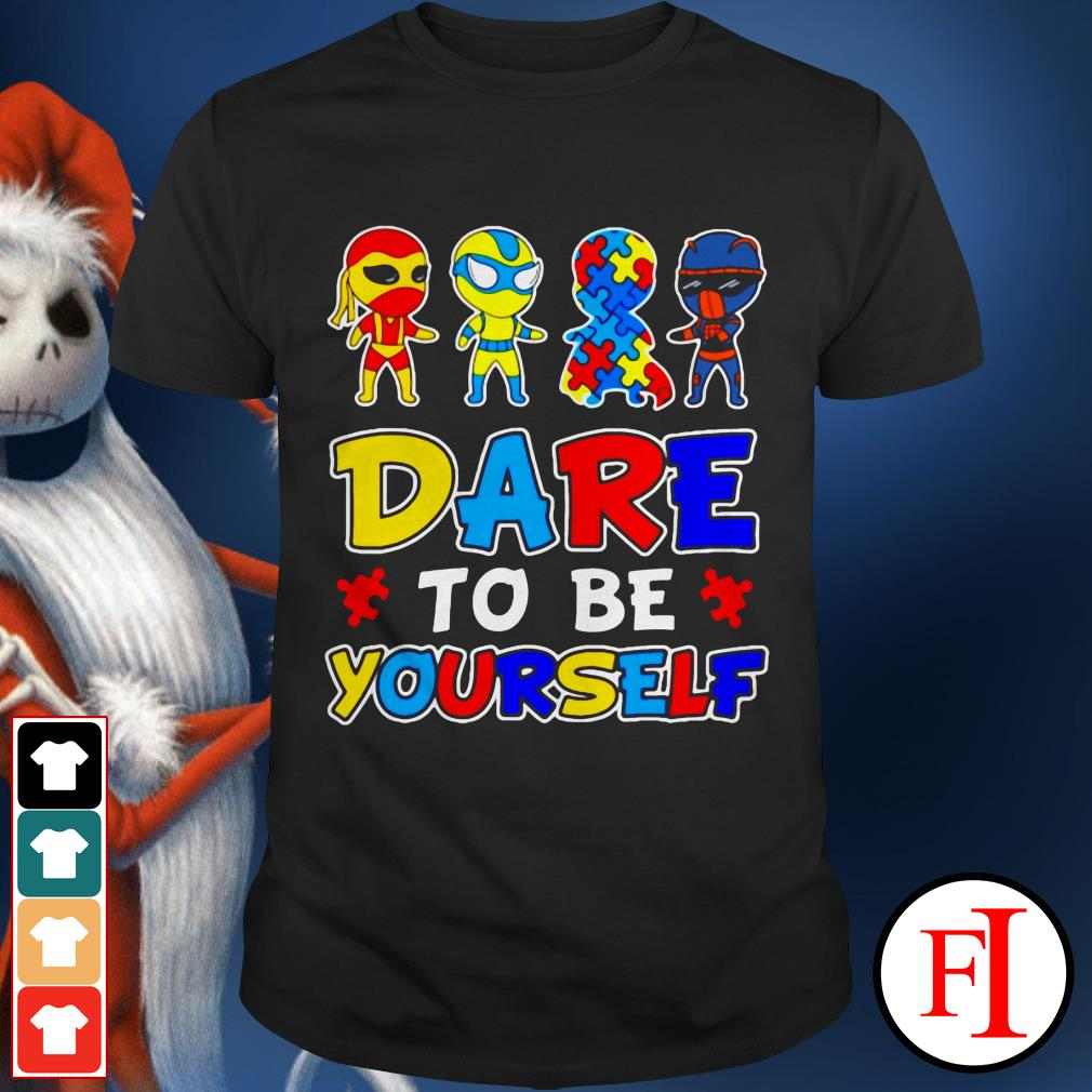 Autism awareness Superman dare to be yourself IF shirt