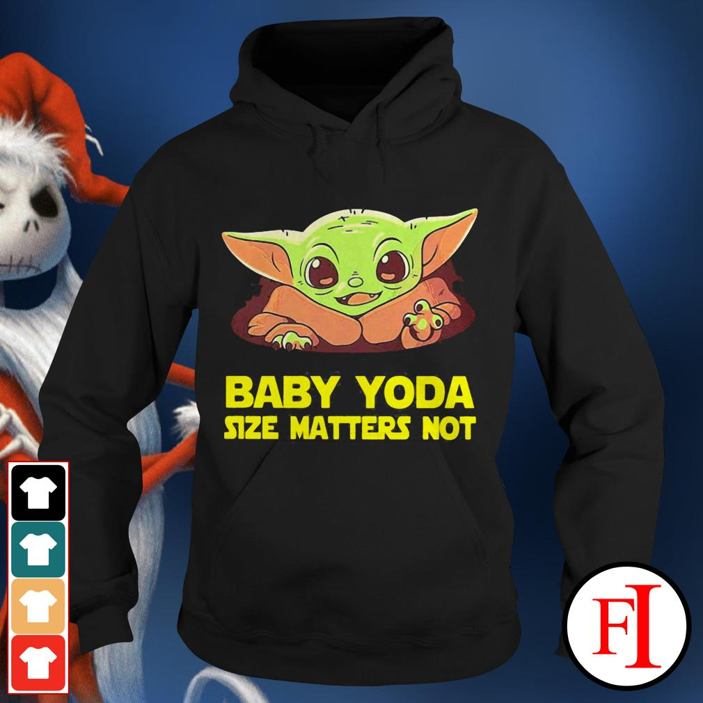 Baby cute Baby Yoda Size Matters Not Hoodie