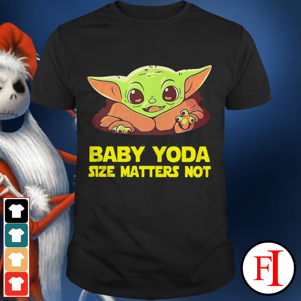 Baby cute Baby Yoda Size Matters Not shirt