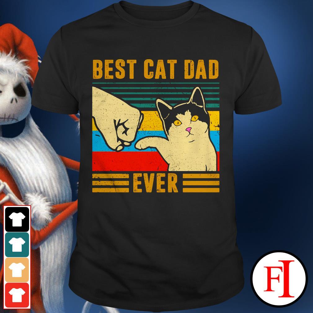 The Best cat dad ever sunset shirt