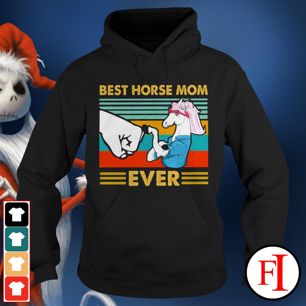 Best horse mom ever sunset IF Hoodie