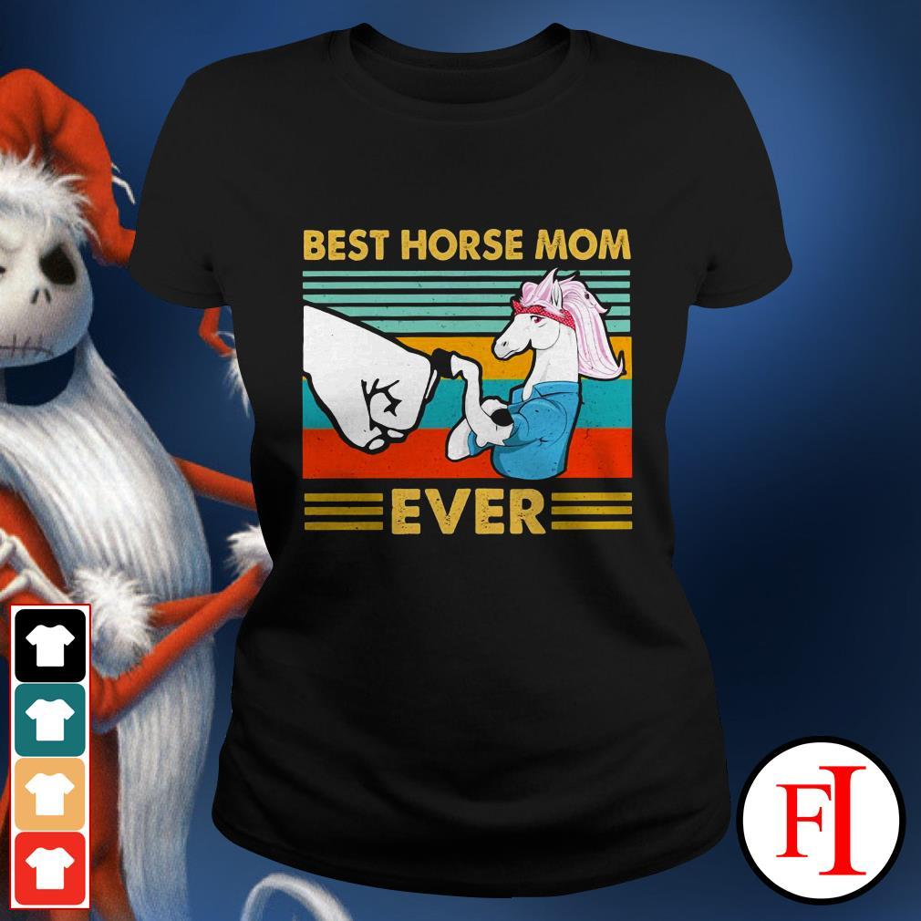 Best horse mom ever sunset IF Ladies tee