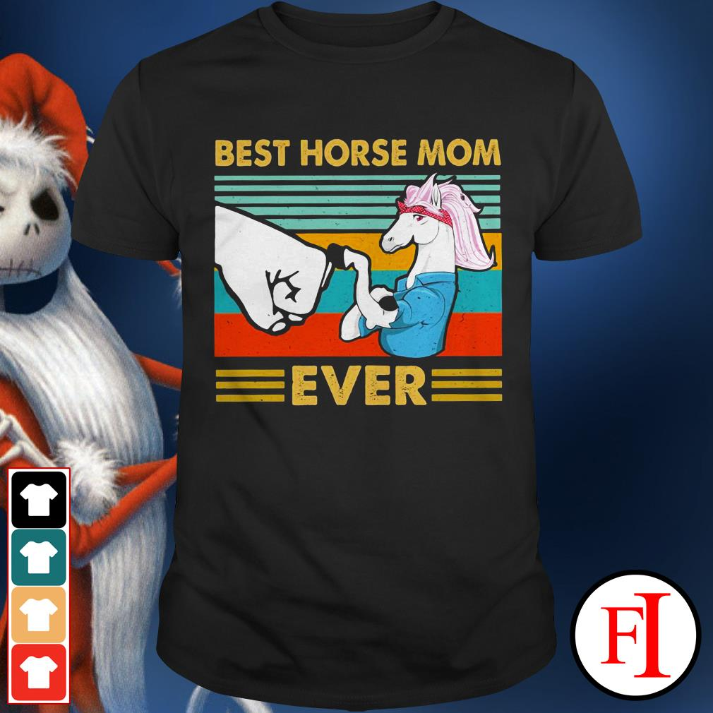 Best horse mom ever sunset IF shirt