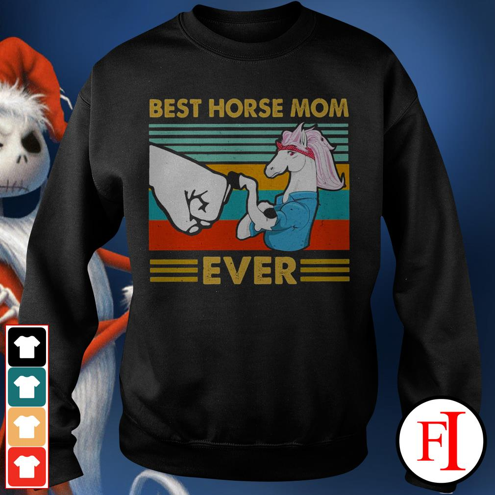 Best horse mom ever sunset IF Sweater